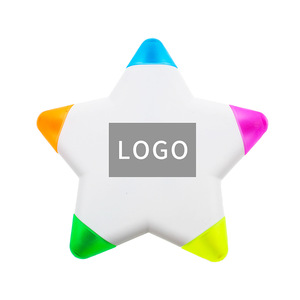 Promotional Star Highlighter, MOQ 1000 PCS 0203028 One Year Quality Warranty