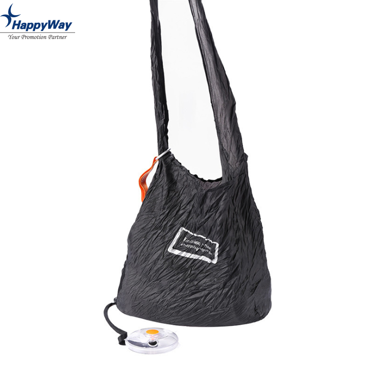 Reusable Roll Up Foldable Shopping Storage Bag With Custom Logo