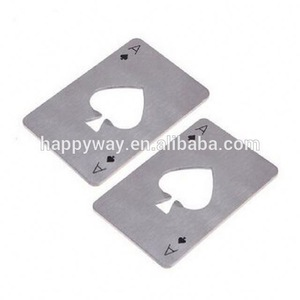 Customized Playing Cards Poker Beer Bottle Opener MOQ 3000PCS One Year Quality Warranty