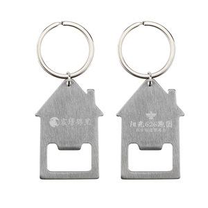 Custom Logo House Shape Bottle Opener Keychain