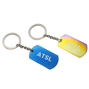 Custom Personalized Colorful Stainless Steel Keychain