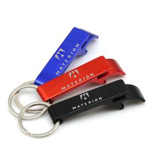 Custom Aluminum Bottle Opener Key Chain, MOQ 100 PCS 0402030 One Year Quality Warranty