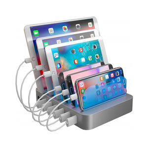 Multi Use Desktop 6 Port USB Charging Station For Apple Devices