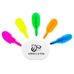 New Hand Shape 5 Color Highlighter Pen