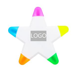 5 Color Star Shape Highlighter Marker Pens