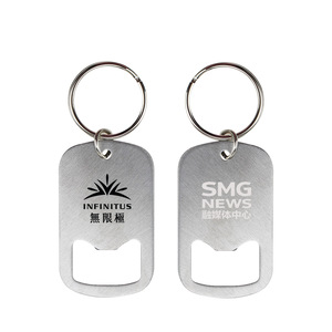 OEM Engraved Stainless Steel Bottle Opener Keychain