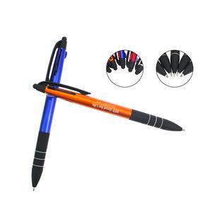Advertising Plastic 3 in 1 Color Stylus Ball Pen