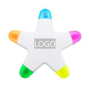 Promotion Star Shape 5 In 1 Highlighter