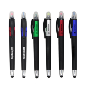 Custom Logo Stylus Plastic Touch Pen With Highlighter