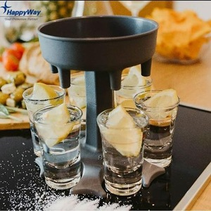 Plastic 6 Shot Glass Dispenser And Holder For Filling Liquids Cocktail