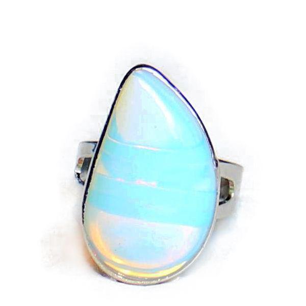 Wholesale Natural Crystal Mermaid Tears Ring