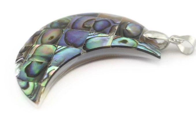 Wholesale Elegant Crystal Half Moon Necklace Pendant