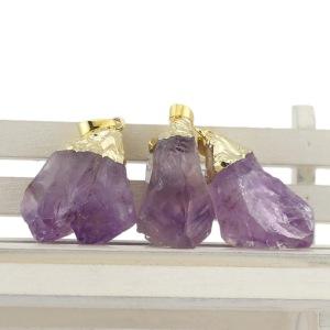 Hot Selling Natural Amethyst Purple Crystal Pendants
