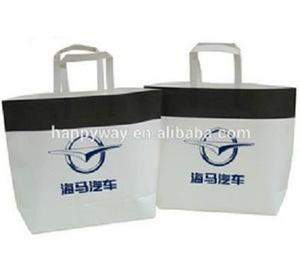 Business environmental protection leather handbag paper bag