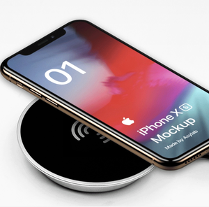 Custom Logo Round Wireless Mobile Phone Charger