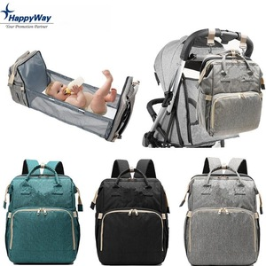 Novelty Foldable Baby Diapers Bag With Bed