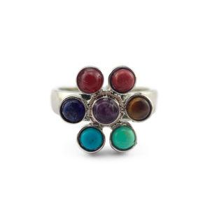 Fashion Women Jewelry Crystals Balls Flower Stones Ring