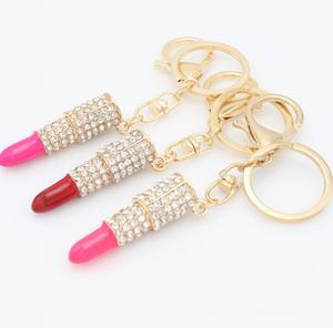Stylish Shiny Lip Gloss Key Chain