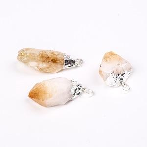 Wholesale Natural Yellow Crystal Stone Pendants