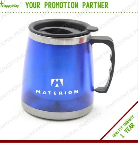 Double wall thermo colorful stainless steel office cup