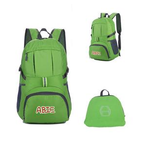 Promotion Custom Logo Printed Outdoor Travel Waterproof Foldable Backpack
