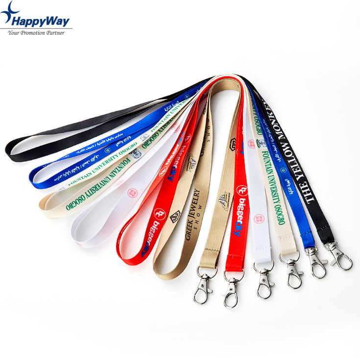 Custom Wholesale Off White Polyester Lanyard