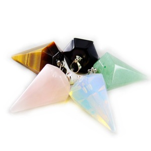 Colorful Crystal Stone Products Cone Shape Pendants