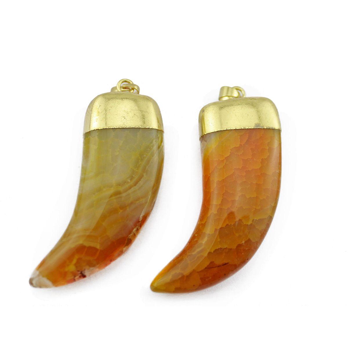 Novelty Wholesale Crystal Stone Spike Shape Pendants