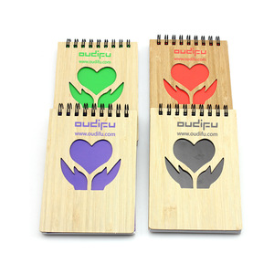 Customized Promotional Notebook Bamboo Cover 0703028 MOQ 1000PCS One Year Quality Warranty
