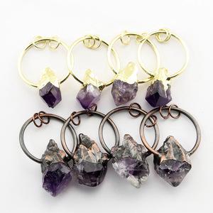 Wholesale Crystal Amethyst Stone Pendants