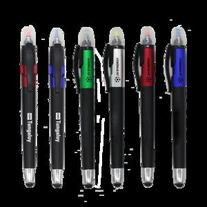 Promotional Multi Function Highlighter Plastic Stylus Ball Pen