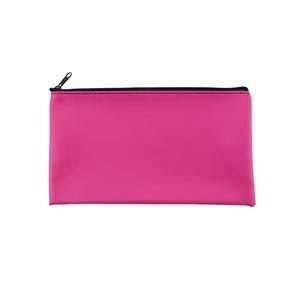 Promotional Multi Color PU Zipper Bank Money Deposit Bags