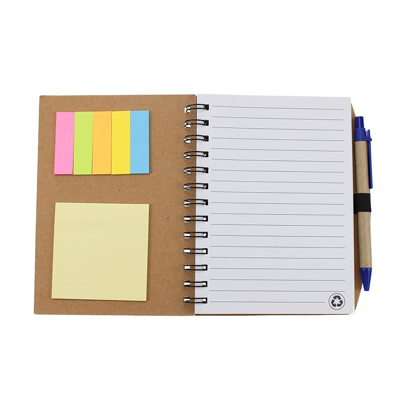 Customized Kraft Notebook With Environmental Paper Pen Gift Set
