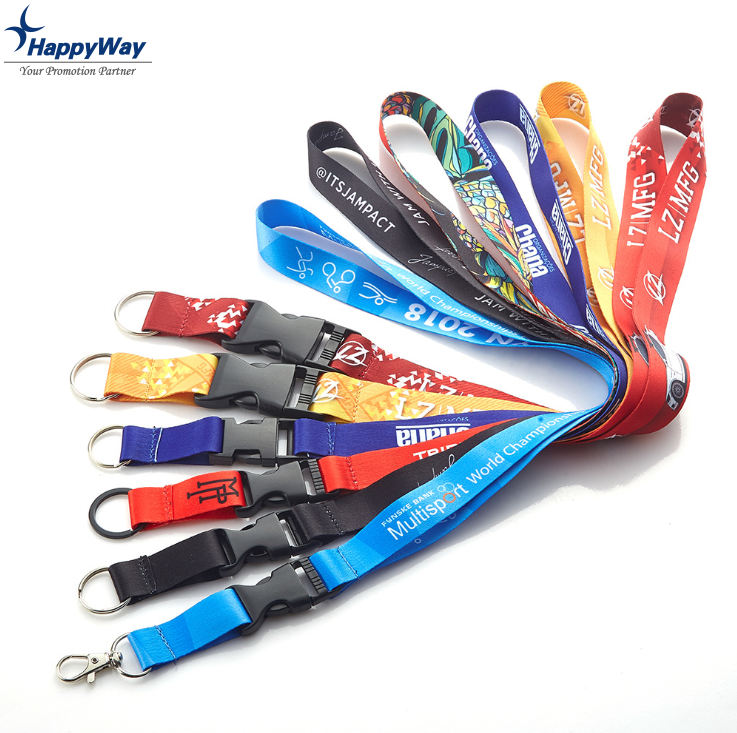 Promotional Custom Cheap Printed Polyester Lanyards