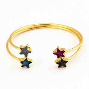 Novelty Nature Crystal Stone Star Decoration Bracelet