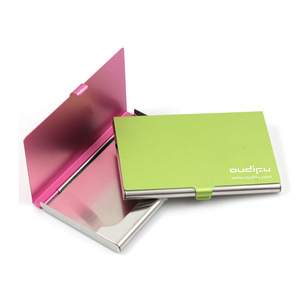 Cheap square bulk business card holder aluminium,personalized name card holder stainless steel