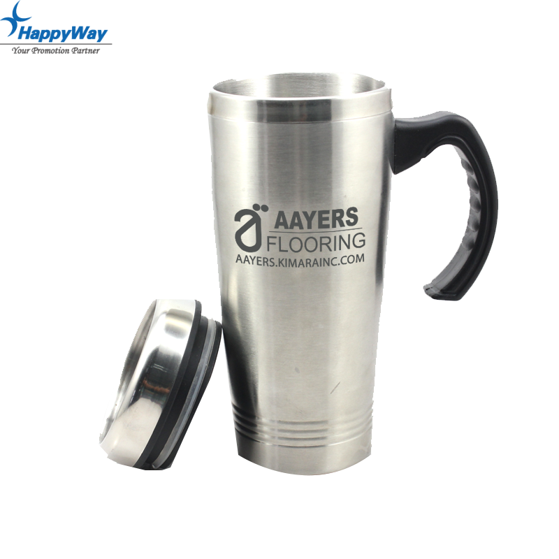 Promotion Stainless Steel Car Mug With Handle