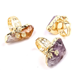 Charm Crystal Rose Nature Stone Ring