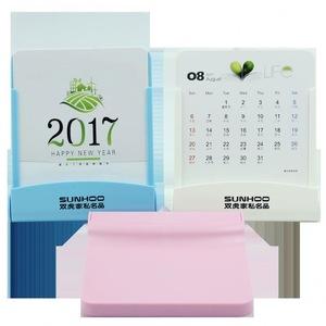 Multi-function folding mobile phone stand desk calendar,Plastic desk calendar custom logo