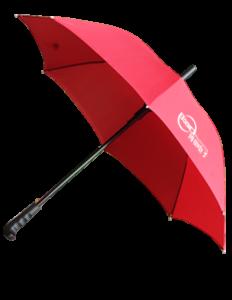 Advertising Pongee Golf Umbrella, MOQ 500 PCS 0606013 One Year Quality Warranty