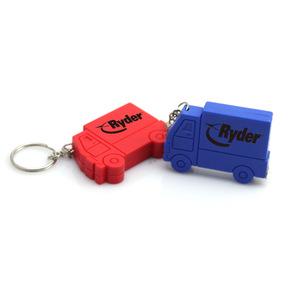 Custom Label Car Shape Plastic Keychain