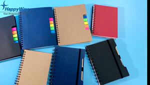 Customized Cheap Spiral Notebook With Sticky Notes 0703030 MOQ 1000PCS One Year Quality Warranty