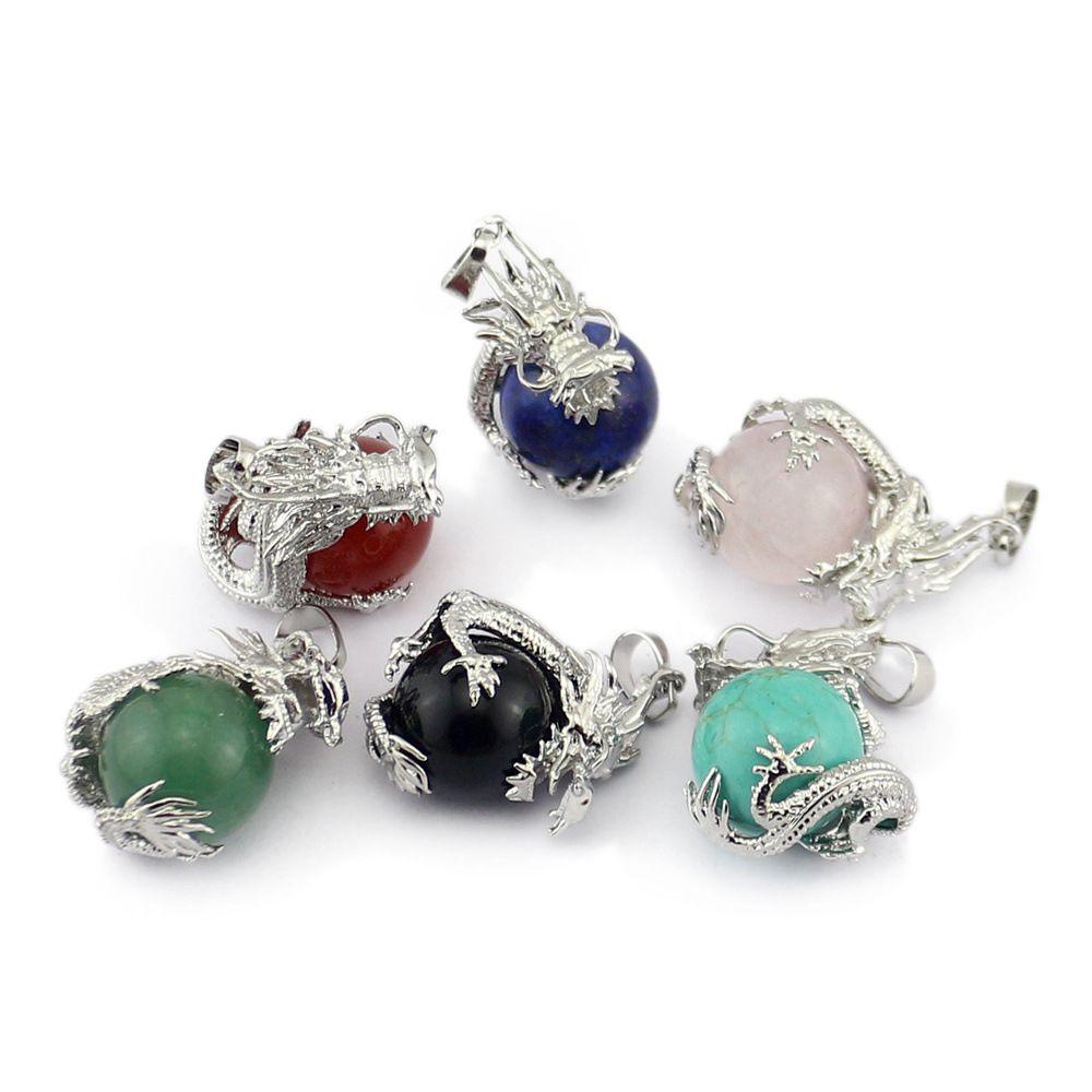 Novelty Design Crystal Stone Dragon Ball Pendant