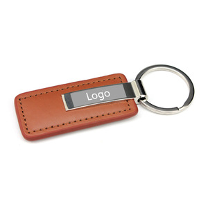 Custom Luxury Blank Leather Keychains MOQ 1000 PCS 0403083