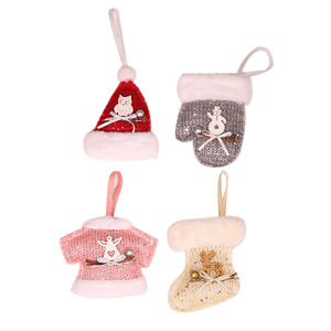 Wholesale Knitting Wool Christmas Decoration Hat Ornaments