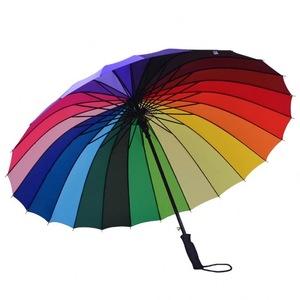 Impressive Rainbow Golf Umbrella, MOQ 100 PCS 0606016 One Year Quality Warranty