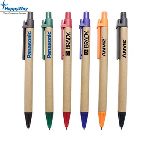 Advertising Recycled Paper Eco Friendly Pen