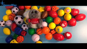 Funny PU Foam Stress Reliever Ball
