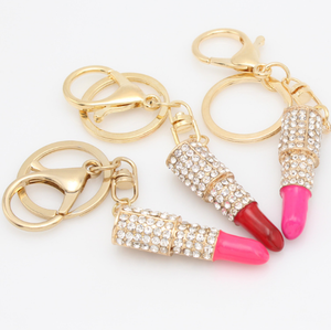 Fashion Lovely Lip Gloss Key Chain